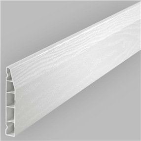 100mm Chamfered Skirting Boards in White Satin x 5m