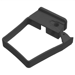 Square Single Fix Downpipe Clip in Black