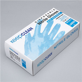 Blue Nitrile Powder Free Disposable Gloves