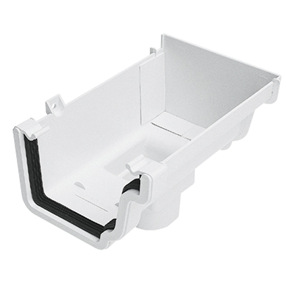 Stopend Running Outlet Right Hand in White