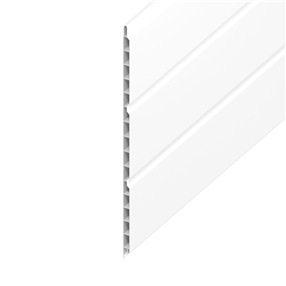 300mm Hollow Soffit Board in White x 5m