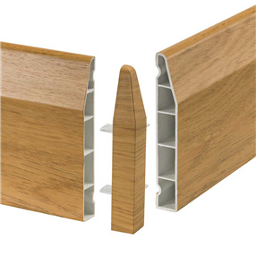 100mm Chamfered Skirting External Corner 90° - English Oak