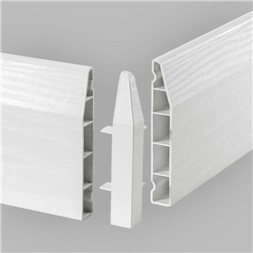 100mm Chamfered Skirting External Corner 90° - White