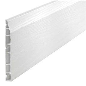 150mm Chamfered Skirting Board in White Satin x 5m
