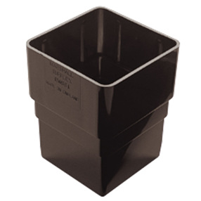 Square Pipe Socket in Black
