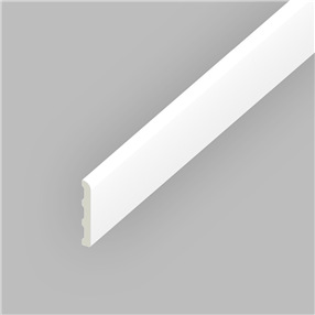 60mm Pencil Round Architrave in White x 5m